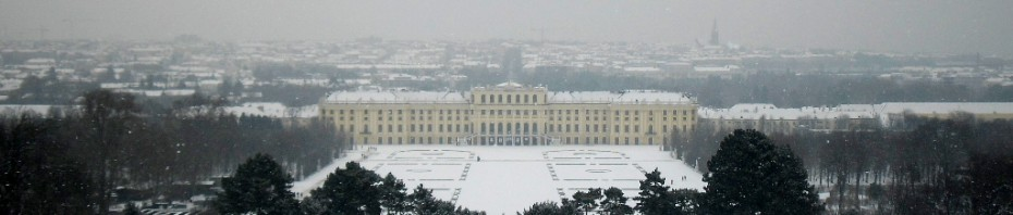Widok na Pałac Schönbrunn w Wiedniu